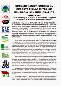 CONCENTRACIÓN CONTRA RECORTES JUNTA DE ANDALUCIA