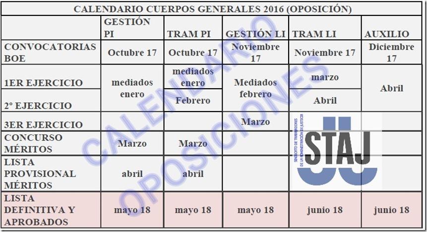 Calendario opos