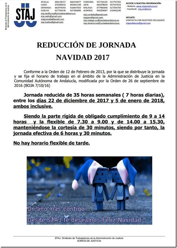 HORARIO NAVIDAD 2017